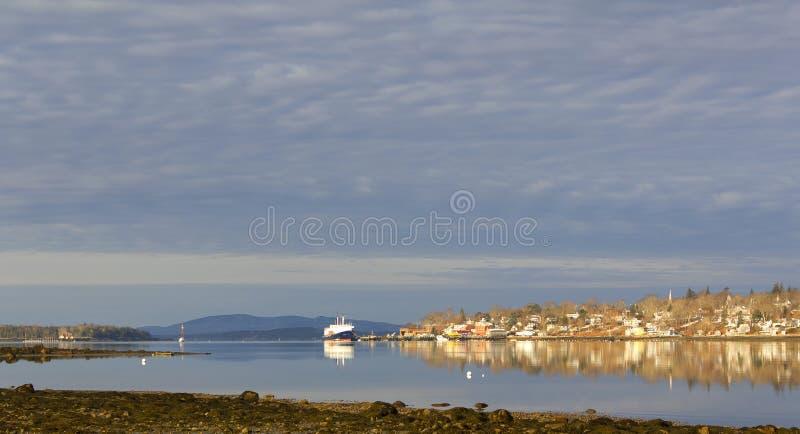 Ansicht des frühen Morgens von Castine, Maine lizenzfreie stockfotos