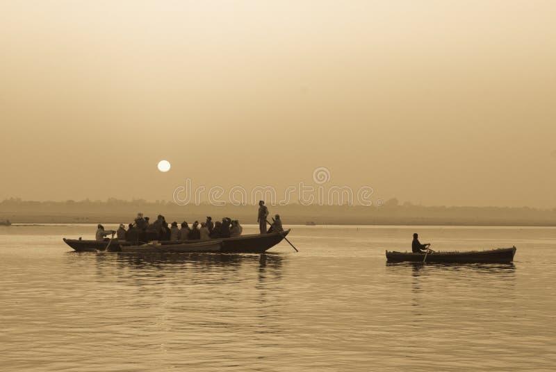 Ansicht des Ganges lizenzfreies stockfoto