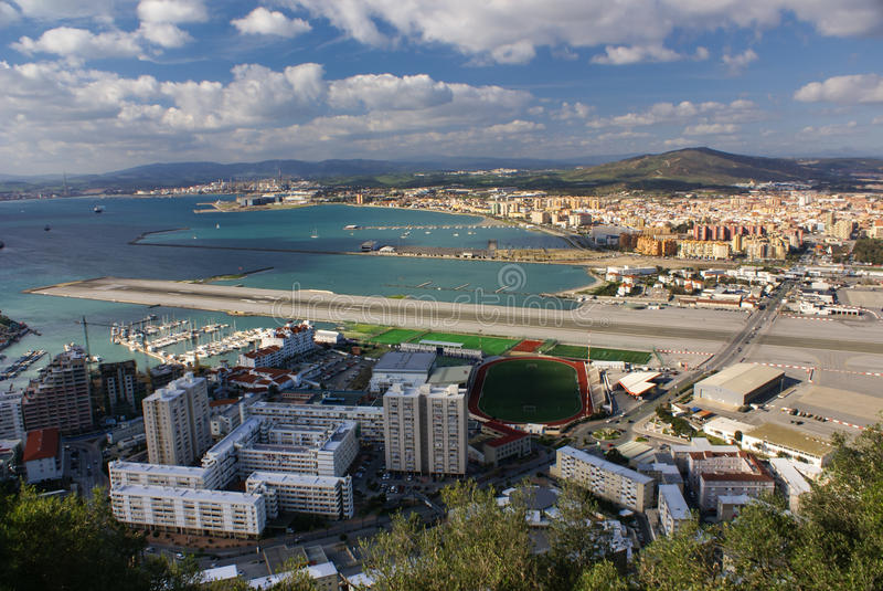 Ansicht des Gibraltar-Felsens stockfotos