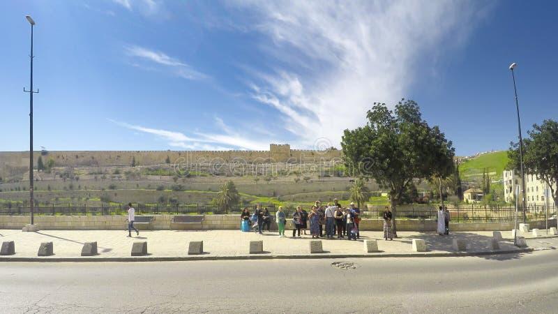 Ansicht des Golden Gate oder des Tors der Gnade auf der Ostseite von dem Tempelberg der alten Stadt von Jerusalem lizenzfreies stockbild
