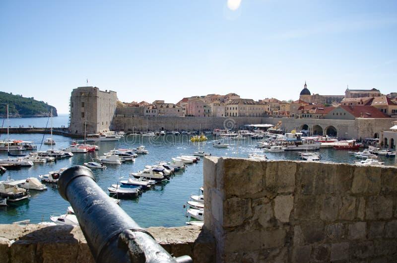 Ansicht des Gruz-Hafens von Dubrovnik, Kroatien stockfotos