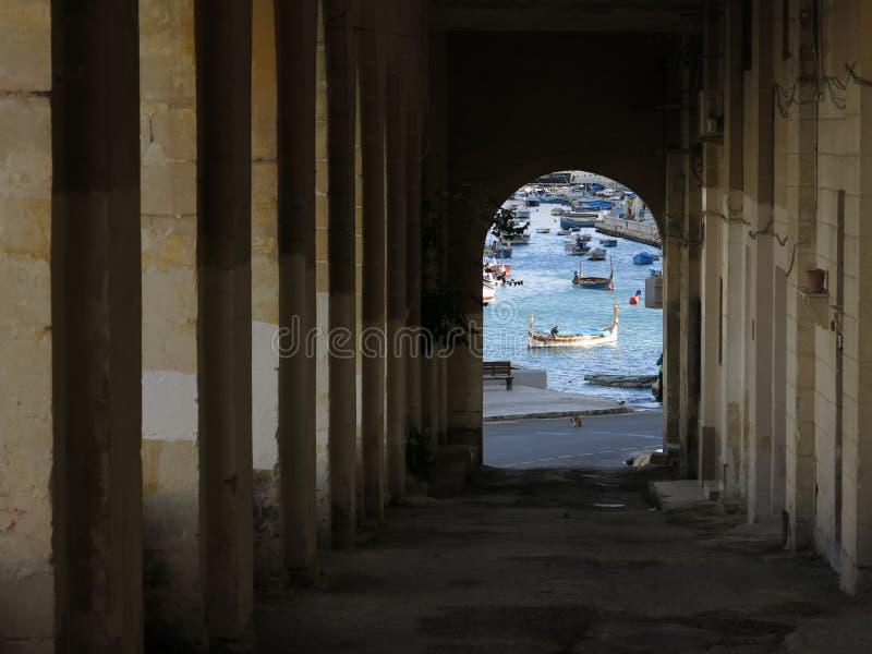 Ansicht des Hafens von Valletta lizenzfreie stockfotografie