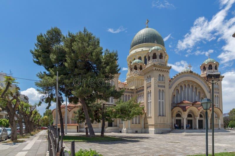 Ansicht des Heiligen Andrew Church, die größte Kirche in Griechenland, Patras, Peloponnes, Griechenland stockfotografie