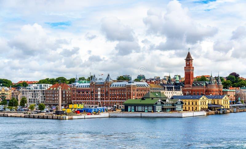 Ansicht des Helsingborg-Stadtzentrums - Schweden stockfoto