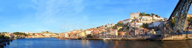 Ansicht des historischen Stadtzentrums, Porto, Portugal stockbild