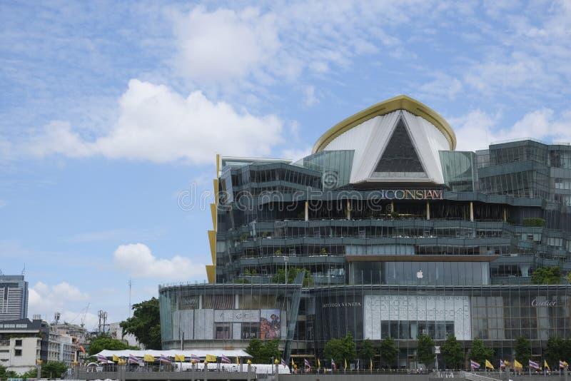 Ansicht des hochwertigen Einkaufszentrums Iconsiam stockbilder