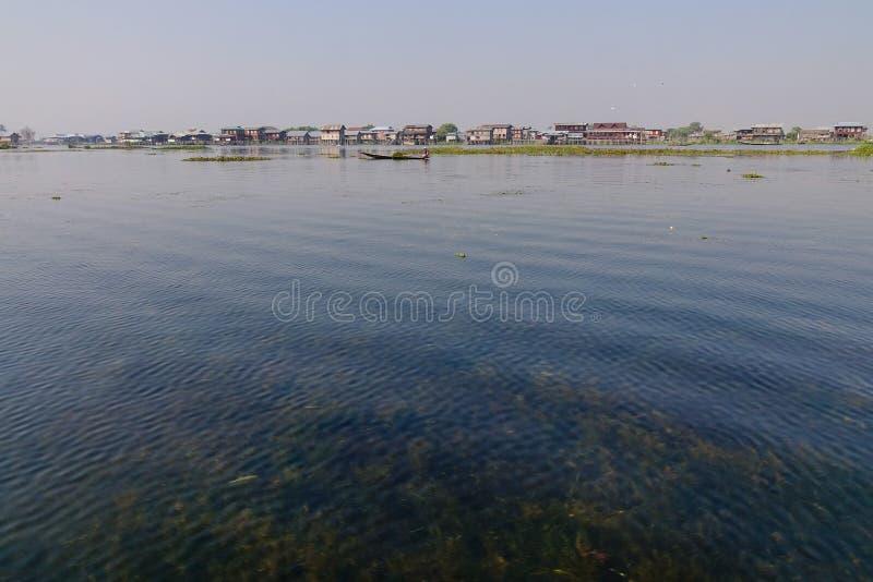 Ansicht des Inle Sees auf Myanmar lizenzfreies stockbild