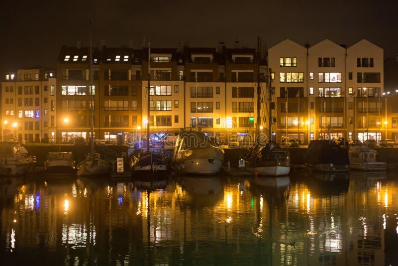 Ansicht des Jachthafens in Gdansk lizenzfreies stockfoto