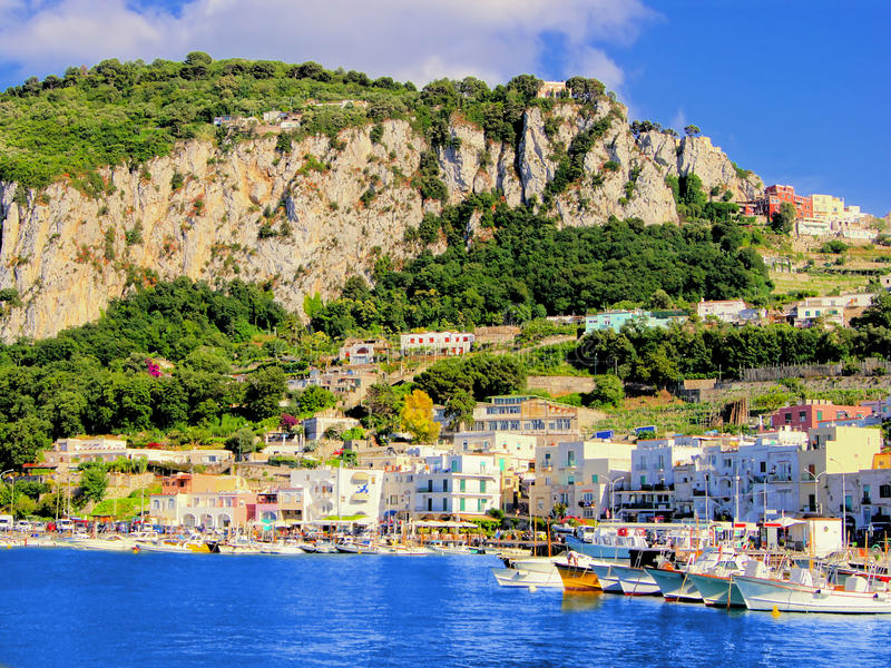 Capri Hafen stockfotos