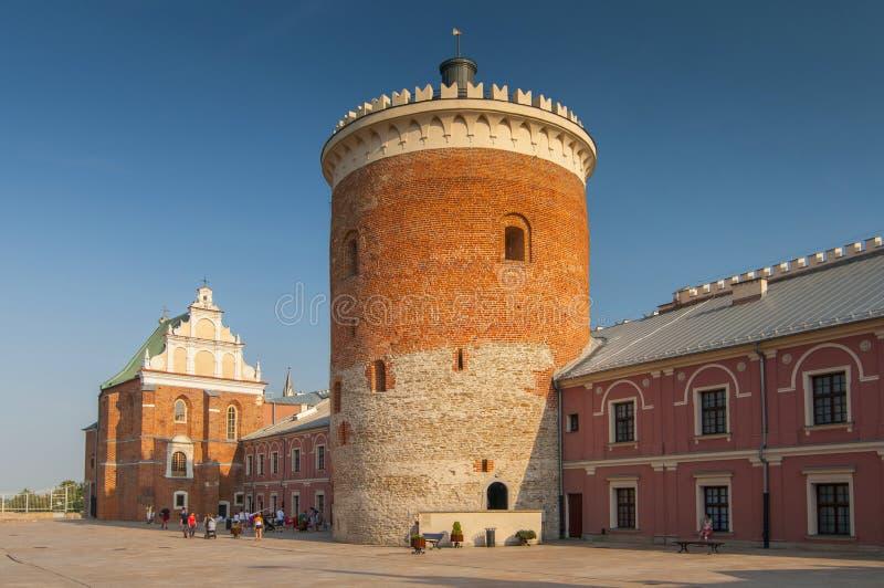Ansicht des königlichen Schlosses Lublins in Polen lizenzfreie stockfotografie