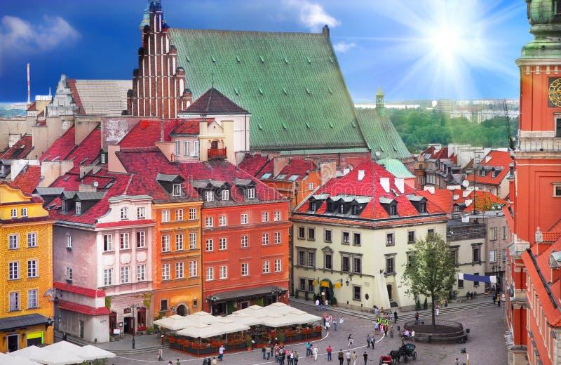 Ansicht des königlichen Schlosses in Polen stockbild