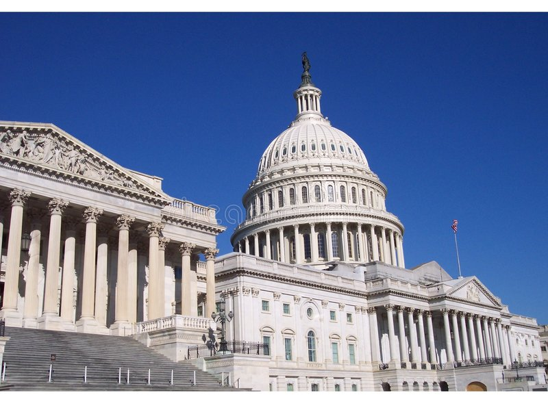 Ansicht des Kapitol-Gebäudes lizenzfreie stockfotos