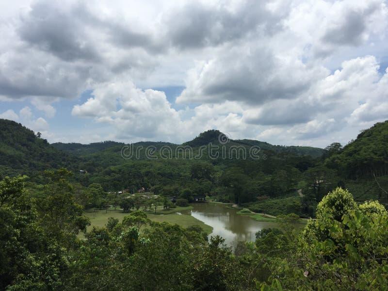 Ansicht des kleinen Sees vom oben genannten lizenzfreies stockfoto