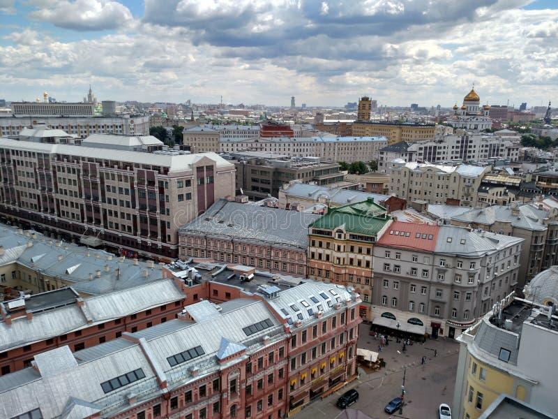 Ansicht des Kremls und des Moskau-Flusses lizenzfreie stockbilder