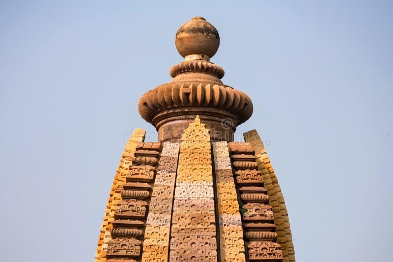 Ansicht des Lakshmana-Tempelhelms in Khajuraho, Indien lizenzfreie stockbilder