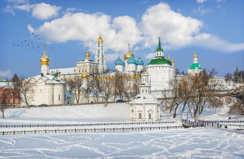 Ansicht des Lavra in Sergiev Posad stockfoto