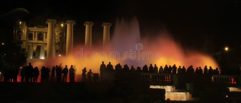 Ansicht des magischen Brunnens von Montjuïc lizenzfreie stockfotografie