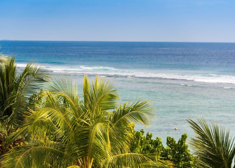 Ansicht des Meerblicks, Malediven, der Indische Ozean Kopieren Sie Raum für Text stockbilder