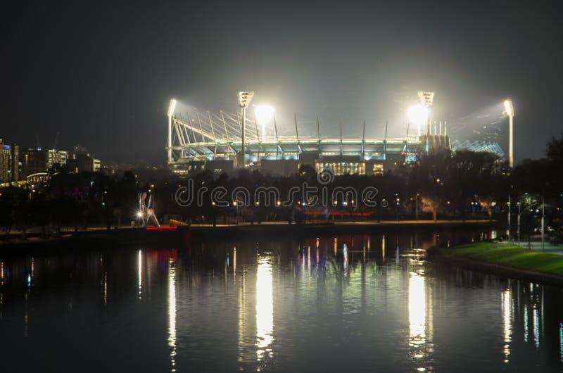 Ansicht des Melbourne-Cricketplatzes in Australien lizenzfreie stockfotos