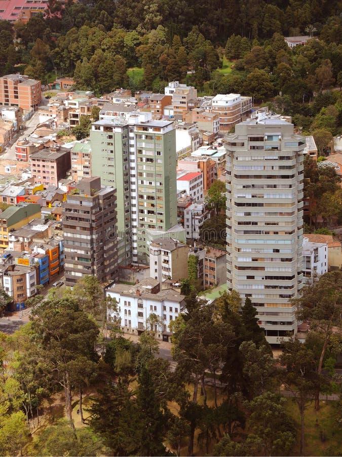 Ansicht des modernen Stadtzentrums von Bogota, Kolumbien lizenzfreie stockfotografie