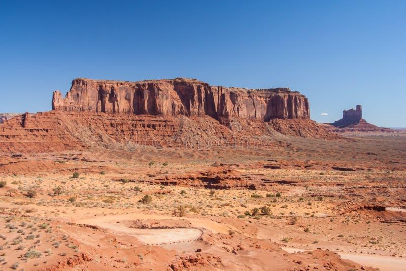 Ansicht des Monument-Tales in der Navajo-Nations-Reservierung zwischen Utah und Arizona lizenzfreies stockfoto