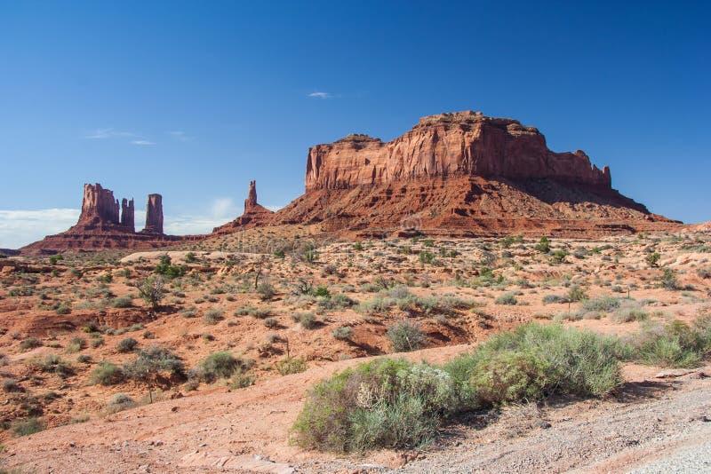 Ansicht des Monument-Tales in der Navajo-Nations-Reservierung zwischen Utah und Arizona lizenzfreie stockbilder