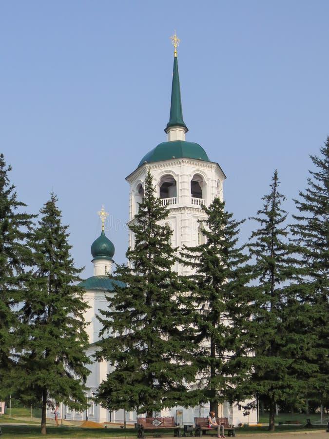 Ansicht des orthodoxen Spassky-Tempels am sonnigen Tag des Sommers lizenzfreies stockfoto