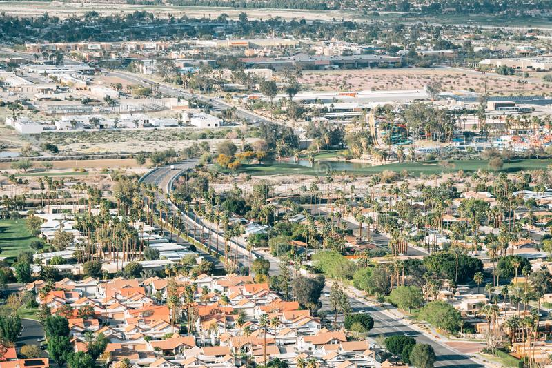 Ansicht des Palm Springs, Kalifornien lizenzfreies stockbild