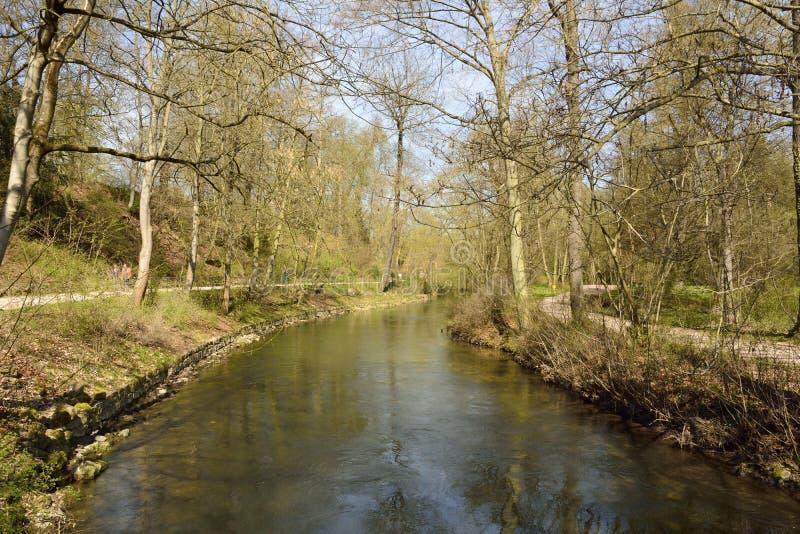 Ansicht des Parks ein der Ilm in Weimar lizenzfreie stockfotografie