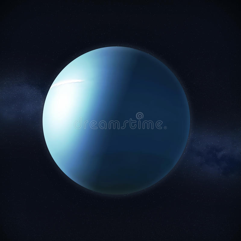Ansicht des Planeten Uranus vektor abbildung