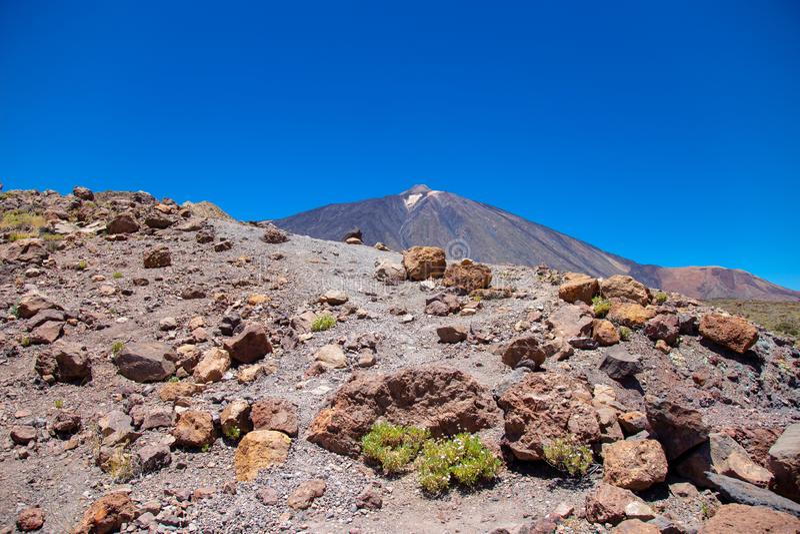 Ansicht des schönen Vulkans Teide stockfotografie