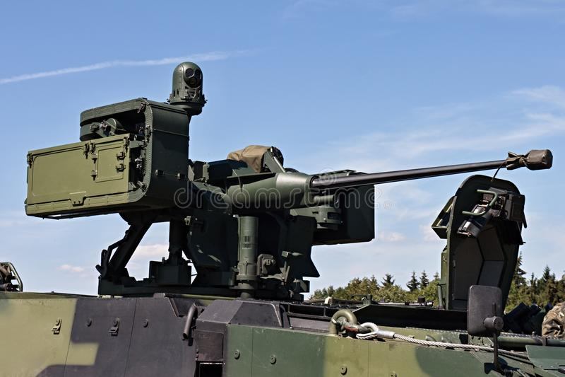 Ansicht des schweren Maschinengewehrs lizenzfreie stockbilder