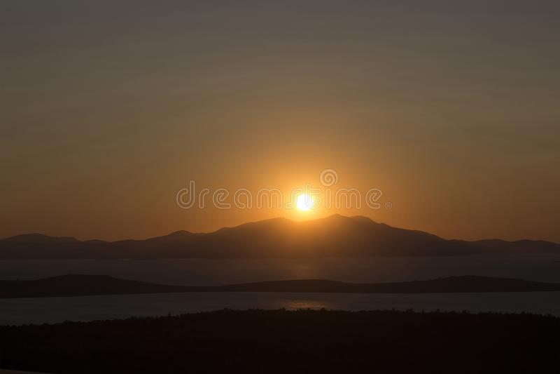 Ansicht des Sonnenuntergangs stockfotos