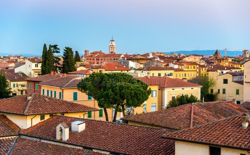 Ansicht des Stadtzentrums von Pisa stockfoto