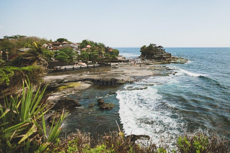 Ansicht des Tanah-Los-Tempels Bali stockfoto