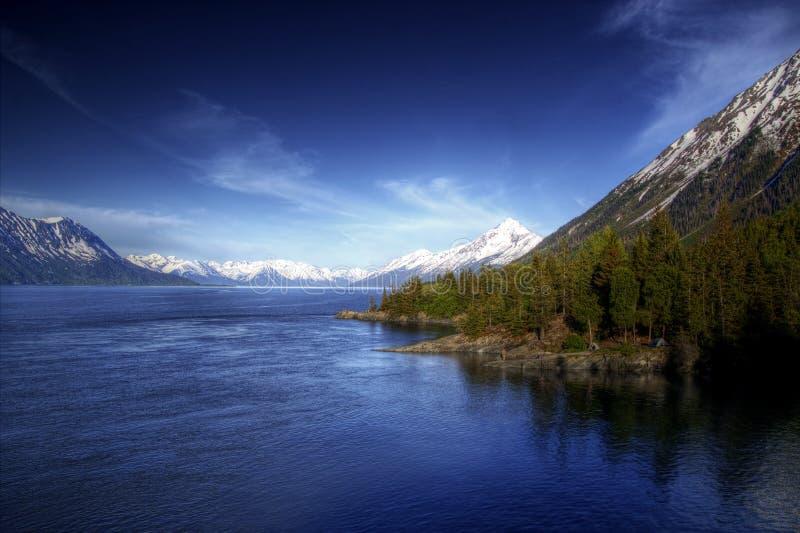 Ansicht des Turnagain Armes Alaska stockbild
