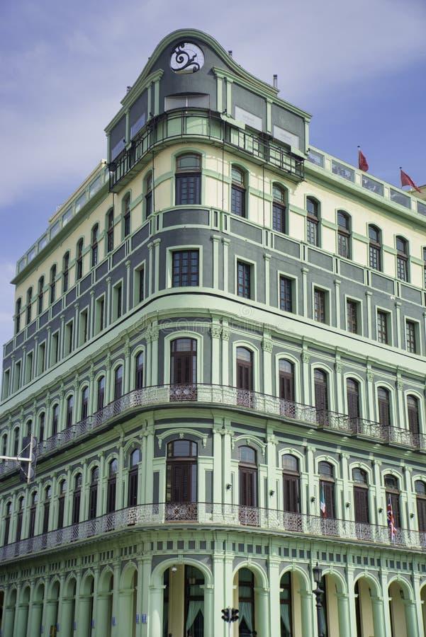 Ansicht des wieder hergestellten Luxus-Saratoga-Hotels errichtet im Jahre 1879 in altem stockbild
