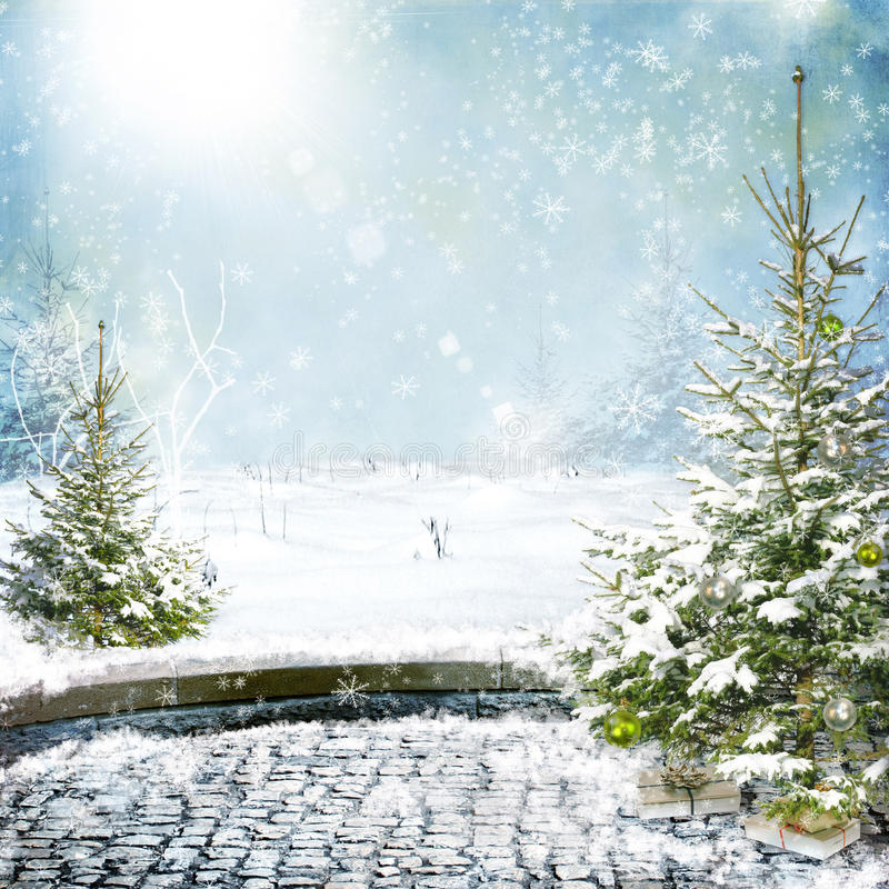 Ansicht des Winters stock abbildung