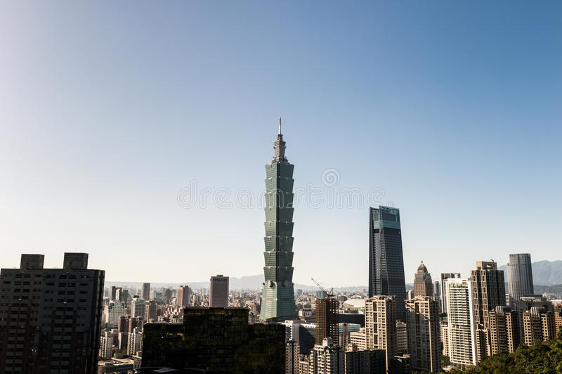 Ansicht des World Trade Center-Gebäudes Taipehs 101 lizenzfreies stockfoto
