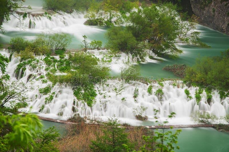 Ansicht in die Plitvice Seen lizenzfreies stockfoto