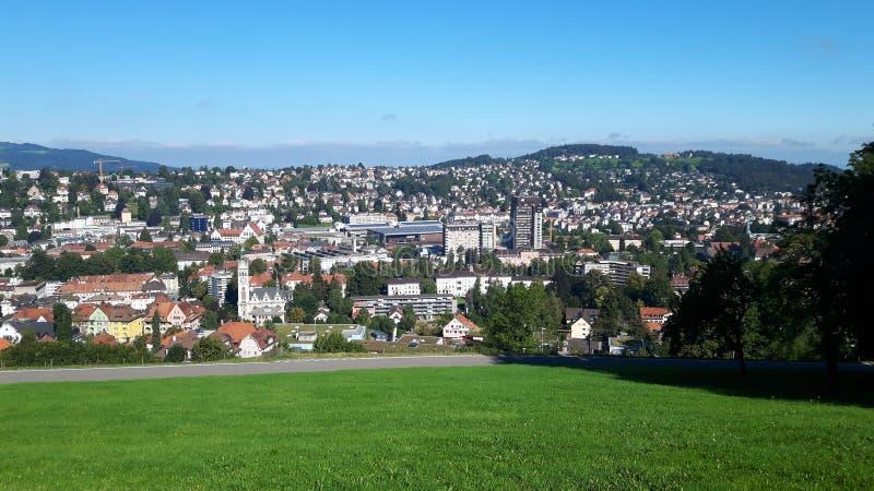 Ansicht in die Schweiz lizenzfreie stockfotos