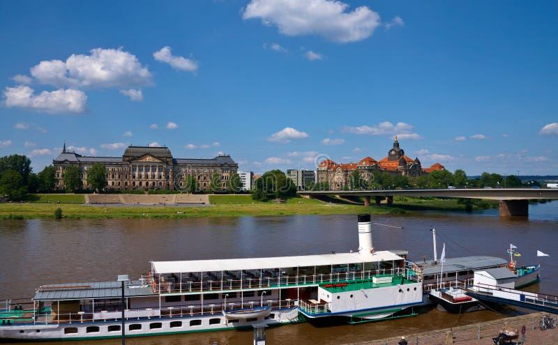 Ansicht in Dresden Deutschland lizenzfreie stockfotografie