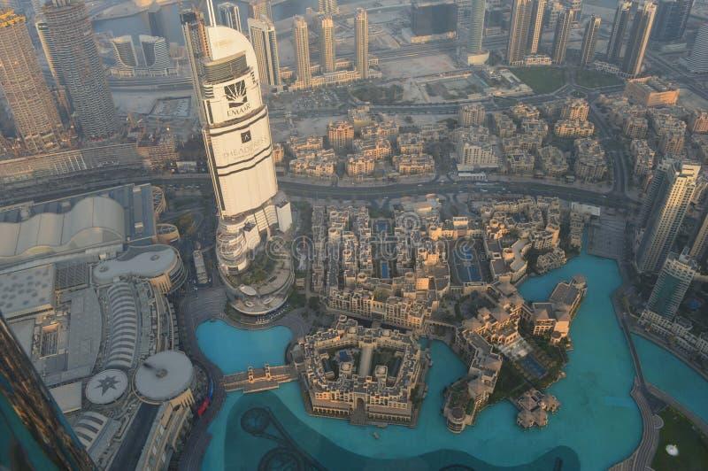 Ansicht Dubais-Burj Khalifa stockbilder