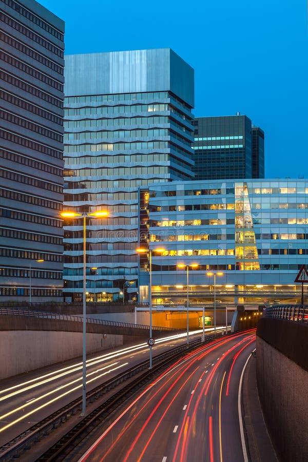 Ansicht an einer holländischen Datenbahn in Den Haag lizenzfreie stockbilder