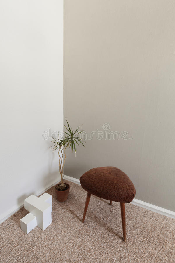 Moderne Zen-Innenarchitektur-Ecke Stockfotos