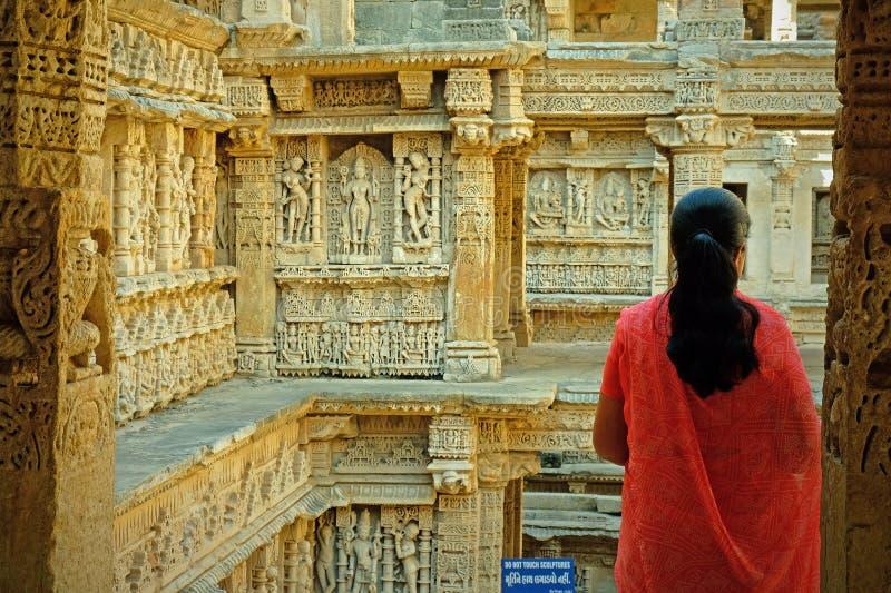 Ansicht eines alten stepwell, Indien lizenzfreie stockfotografie
