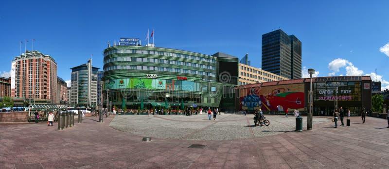 Ansicht eines byporten Oslo Norwegen lizenzfreies stockbild