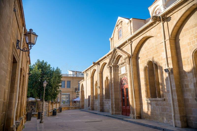 Ansicht an Faneromeni-Quadrat Nicosia, Zypern stockbilder