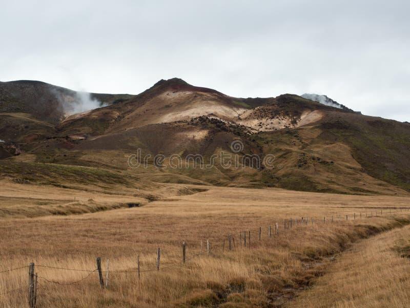 Ansicht geothermischen Bereichs Seltun lizenzfreie stockbilder