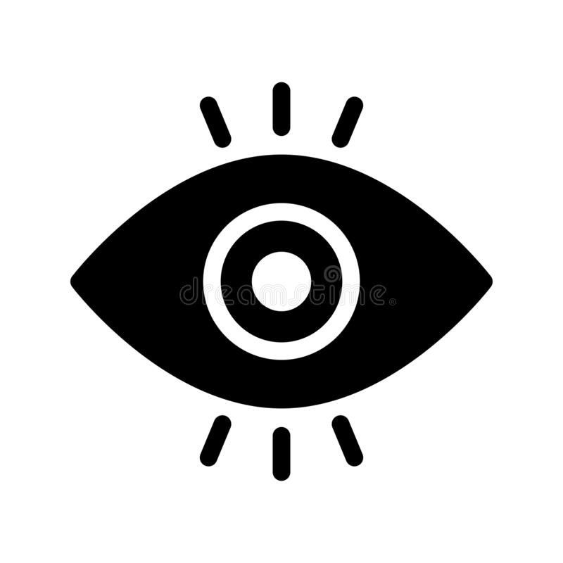 Ansicht Glyph-Vektorikone lizenzfreie abbildung